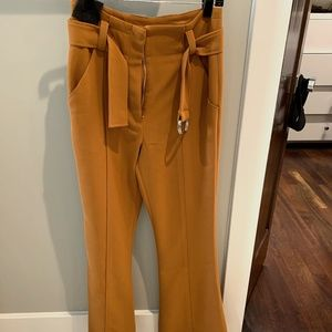 A.L.C Morgan High rised belted flared pants Size 4